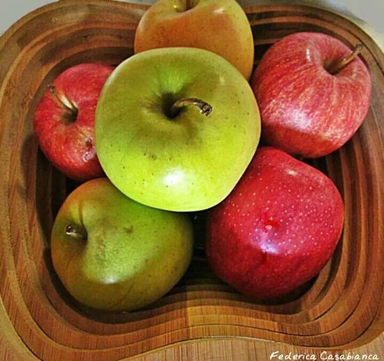 Apples Green Yellow Red Cesta Mele  Taking Photo Frutti Dolcevita