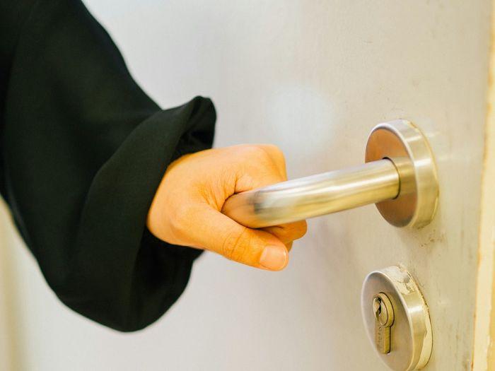 hand holding door knob Open Door Door Handle Doorknob Door Handle Door Knocker Front Door Knob Keyhole Security System Closed Door