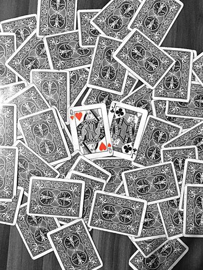 keşmekeş Heart Love Cards JackOfClubs Queenofhearts Blackjack Blackandwhite Gambling Backgrounds Full Frame Luck EyeEmNewHere
