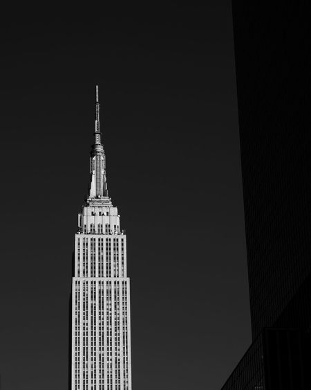 - Empire State Of Mind Bnw_collection New York City Empire State Building Blackandwhite Blackandwhite Photography EyeEm Gallery Eye4photography  Travcimages eyeemphoto EyeEm Best Shots EyeEm Nycphotographer Architecture Built Structure Building Tower Travel Destinations Building Exterior Sky Skyscraper