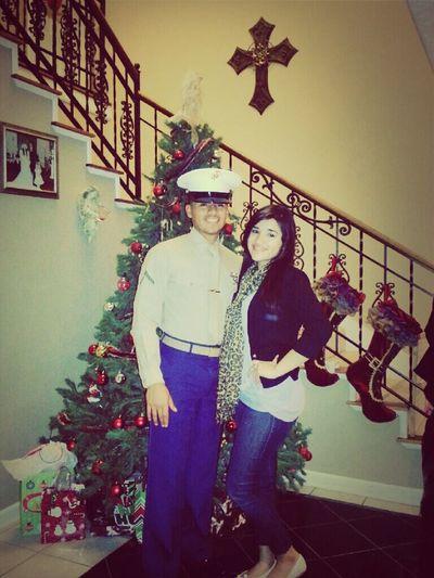 Christmas Eve with my brother. USMC. OORAH! Christmas Eve USMC Family First Big Bro Oorah