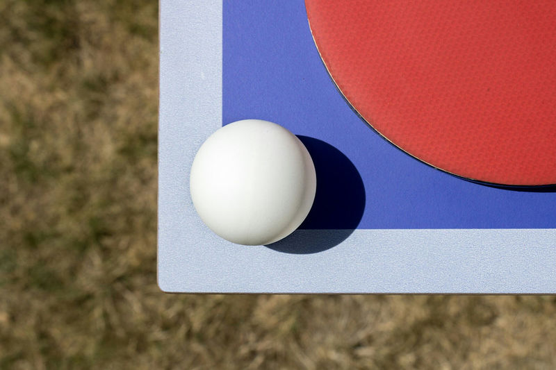 Close up of a table tennis table