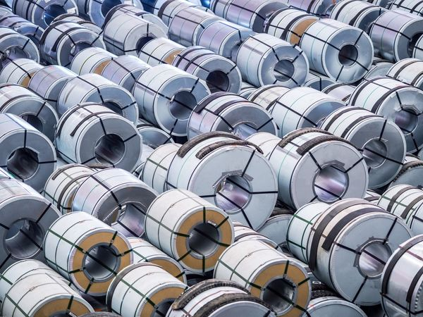 Backgrounds steel Industry Large Group Of Objects Sport Stadium Aluminum Storage coil DIY Domestic Room Modern Bleachers Indoors  Close-up Day coil Stack Shipping  Delivery Pickup Truck Industry Crane Factory
