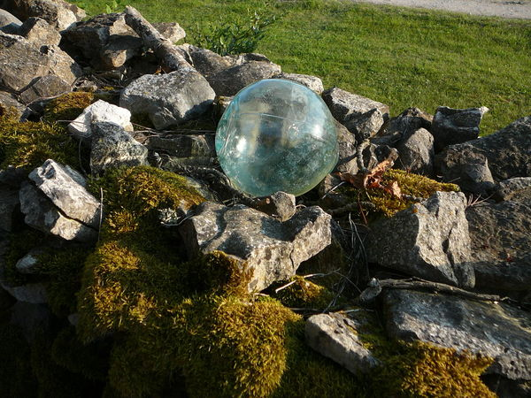 #estonia #glassart Beauty In Nature Close-up Day Grass High Angle View Nature No People Outdoors Reflection Rock - Object Water