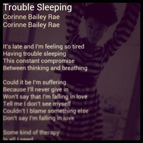 Nowplaying CorinneBaileyRae TroubleSleeping Fallinginlove Bedtime NeoSoul