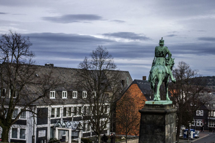 Architecture Bare Tree Building Exterior Built Structure City Life Cloud - Sky Day Famous Place Germany Goslar Goslar Germany History No People Old Town Outdoors Sculpture Sky Spire  Statue Tourism Town Travel Destinations