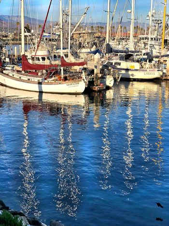 Nautical Vessel Water Moored Reflection Waterfront Mode Of Transport Mast
