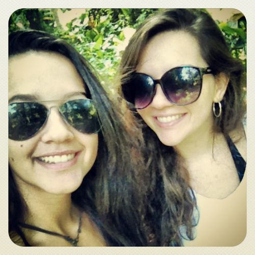 She came to visit me in her little aviators! My sister is the cutest :3 Instasista Worldnomads Riodejaneiro Parquelage sisterlove sisterhike