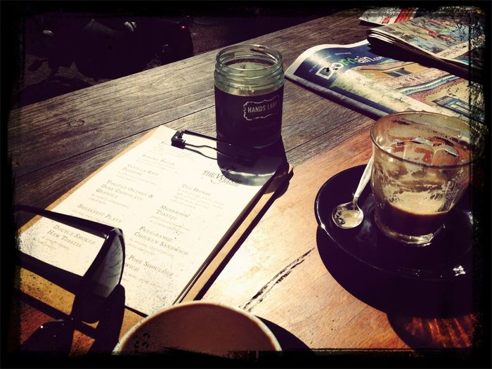 After the Glebe Markets, coffee & conversation