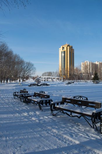 Astana Kazakhstan Architecture Astana Winter Architecture Snow Built Structure Building Exterior Cold Temperature Sky Office Building Exterior Clear Sky Landscape Plant Land Day Frozen Outdoors No People Building City Nature Tree
