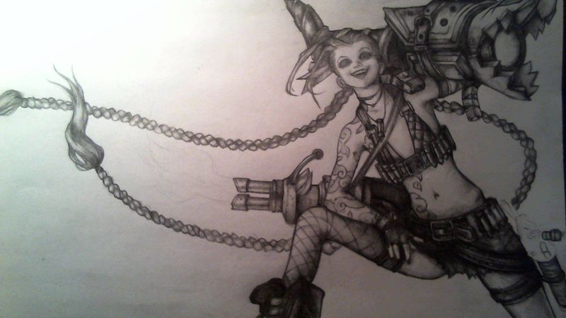Jinx LOL Drawing League Of Legends Oh, I remember how it tooks me 16 hours, incredibly long ikr