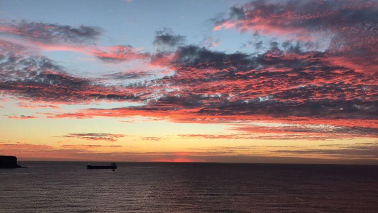Welcome Home Orange Color Sunrise Ship Sydney, Australia Sydney Harbour