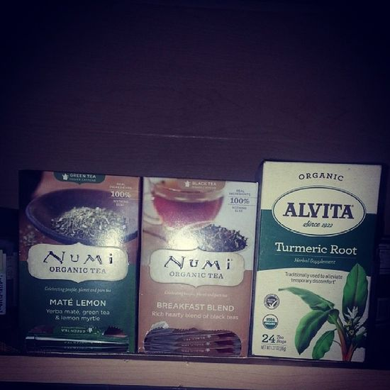 Three good teas to always have @ home beginning with NUmi and Alvita