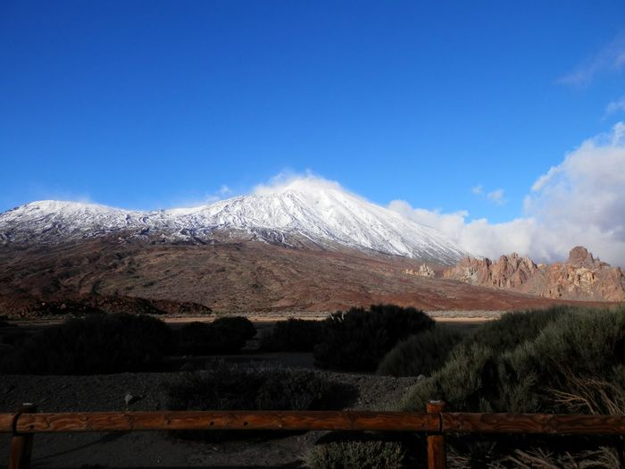 El Teide (Pico más alto de España con 3718 metros de altura en la isla de Tenerife) Sky Mountain Scenics - Nature Beauty In Nature Tranquil Scene Environment Landscape No People Nature Mountain Range Travel Destinations Non-urban Scene Plant Cloud - Sky Tranquility Blue Land Day Tree Snow My Best Photo
