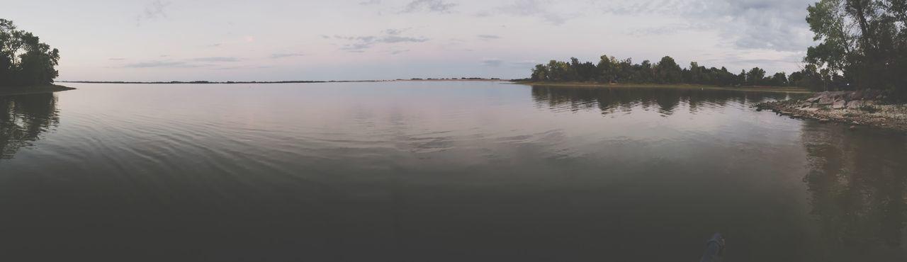 Zion Water Tree Lake Horizon Over Water