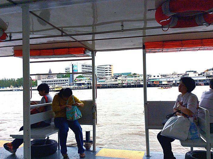 Across The River Boats Public Transportation Bangkok Life... Fast No Traffic Enjoying The Sights Hello World Eye Em Around The World Relaxing