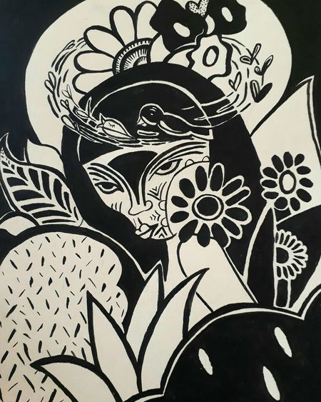 Sketch Pencil Drawing Drawing - Art Product Women Nature Outdoors Botanical Ink Bothanical Botanic Draw Flower Flowers Naturelovers Draws Drawings BLACKBOOk Nature EyeEmNewHere Indegenous Posca Bodypaint Futuristic Pinturas Indegenous Roots