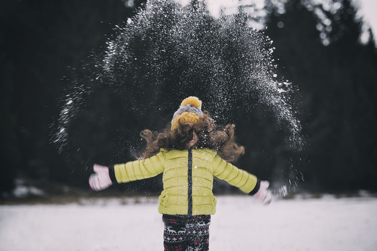 Child Childhood Children Cold Cold Temperature EyeEm Best Shots EyeEm Nature Lover Holiday Human Body Part Kids Motion Natural Nature Nature_collection One Person Outdoors People People Photography Snow Snow ❄ Tree Vacations Warm Clothing Winter Wintertime