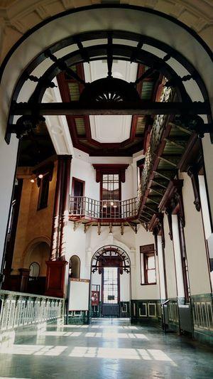 岩手銀行旧本店 Bank of Iwate Indoors  Architecture Arch Art Deco Prayforjapan Spring Time Morioka Modern
