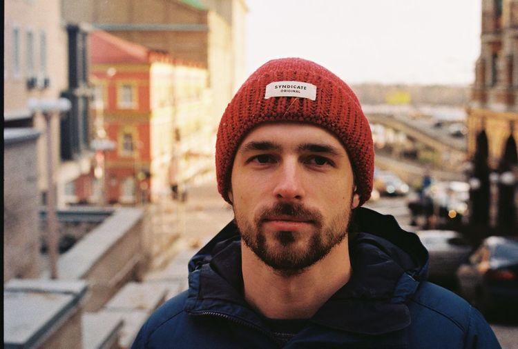 Kyiv,Ukraine Man Beard One Person Podil Read Hat Real People Warm Light