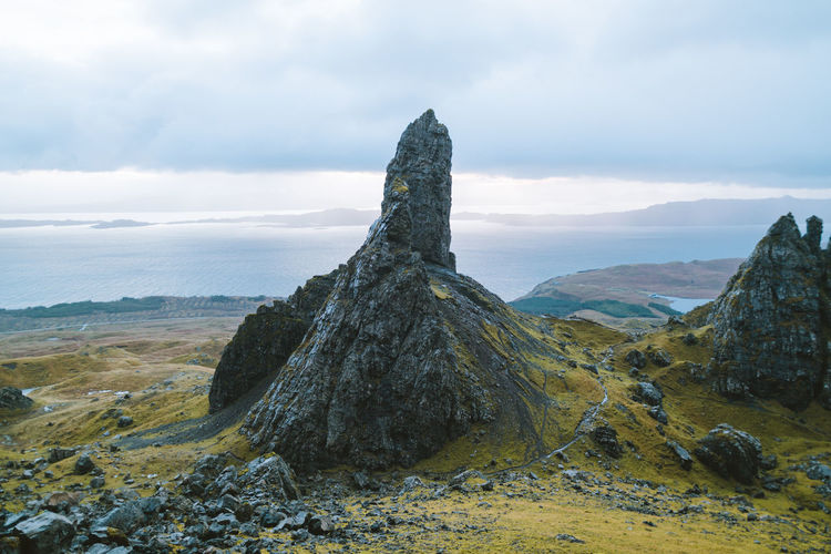 find more travel inspiration at http://www.instagram.com/simonmigaj Old Man Scotland Skye Travel Adventure Beauty In Nature Cloud - Sky Day Geology Isle Of Skye Landscape Mood Mountain Nature No People Outdoors Rock - Object Rock Formation Scenics Sky Storr Tranquil Scene Tranquility