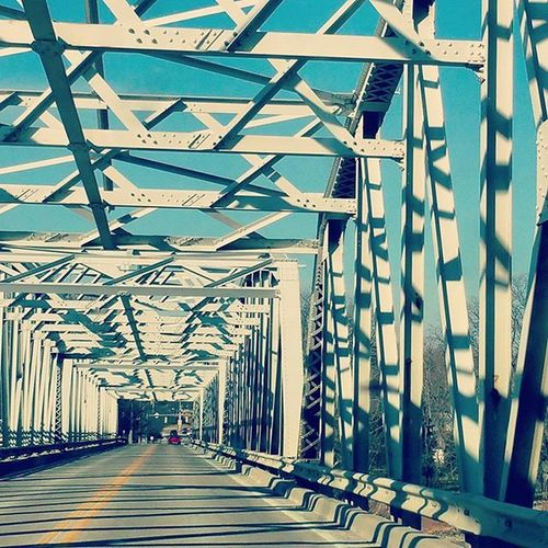 Feb 21st: little red Bridge 365project 365 Architecturelovers Lines Bridges Sotoledo Sowaterville Watervilleohio Shapes Sun Shadows Photooftheday Photography Travel Roadtrip