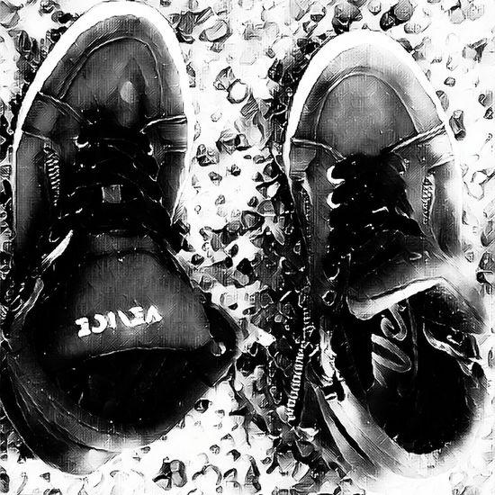 abandoned shoes Low Section Human Leg Shoe Close-up Pair Shoelace