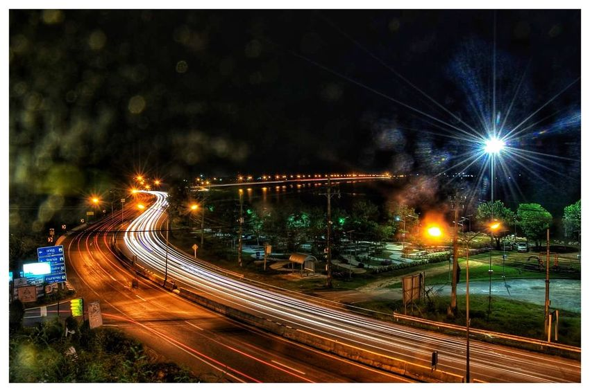 Long Exposure Traffic Road Fireworks No People Cityscape Nightphotography Night Lights
