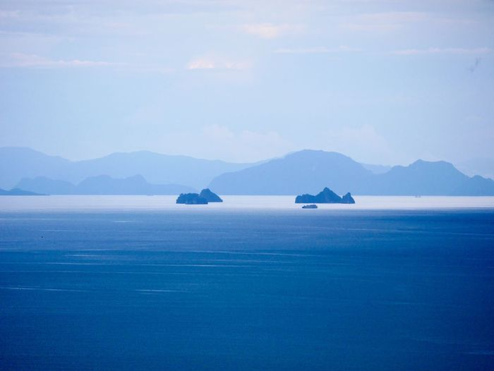 Seascape Mountain Water Sea Scenics - Nature Beauty In Nature Sky Tranquil Scene Blue Nature No People Outdoors