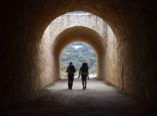 Tunnel Arch Indoors  Walking Full Length History Built Structure Adult Architecture Two People Leaving Women Togetherness People Day Adults Only Lost In The Landscape Silhouette Light And Shadow EyeEm Best Shots EyEmNewHere Travel Destinations Traveling Scenics Tranquility