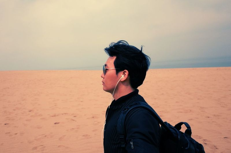 EyeEm Selects Desert Beach Sand One Person Vacations Sand Dune Adult Adults Only Travel Destinations Thinking Alone Time Alone