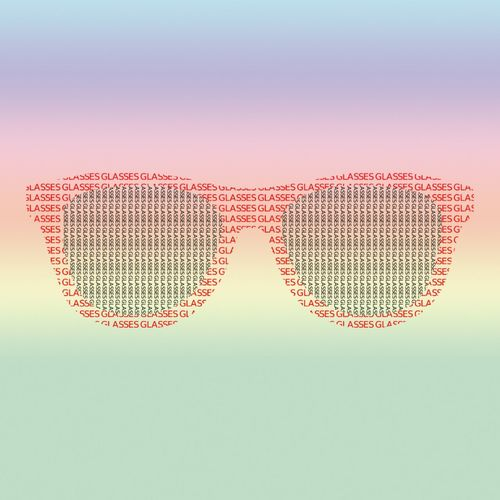 Close-up of sunglasses against gray background