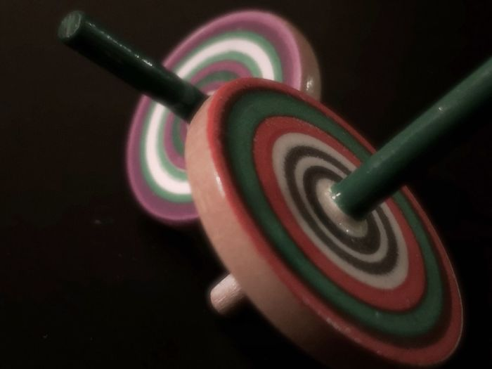 Hand made spinning tops. Close-up No People Indoors  Multi Colored Colors Hamdmade Wooden Toy Toy