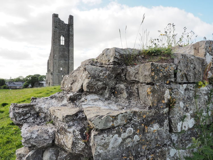 Architecture Day Historical Building History Ireland Irish No People Outdoors Ruins Sky Travel Travel Destinations Tree Wall Yellow Tower