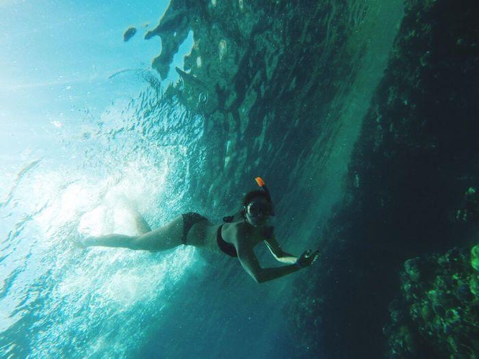 Underwater Sea Snorkeling Snorkling Diving Swimming Red Sea Girl Under Water Things I Like Alternative Fitness