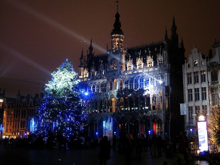 Nightlife at Brussels Christmas Christmas Decoration Celebration Christmas Tree Christmas Lights Night Architecture Illuminated Travel Destinations Brussels Brussels❤️ Belgium Brussel Vacations Holiday - Event Night Lights City Light