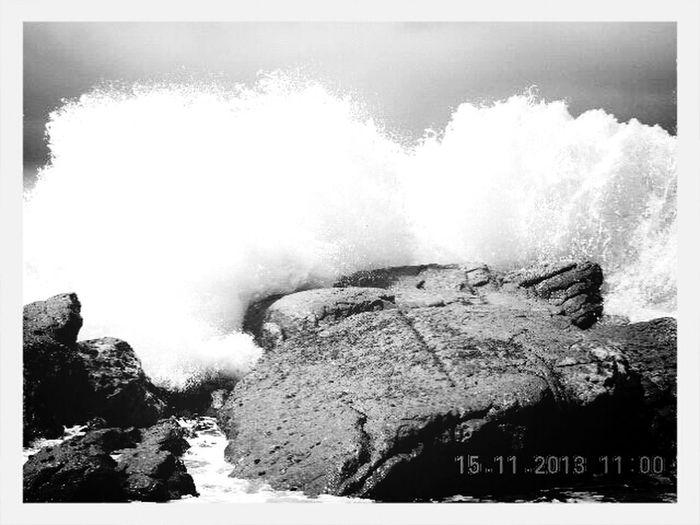 Splashed! Kaikoura Blackandwhite Water Splash!