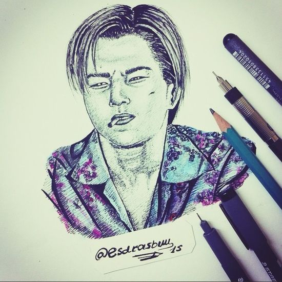 Draw Drawing Titanic Actor Leonardodicaprio  ArtWork Painting Follow Art