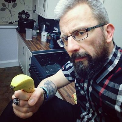 Sds for @grcie__73.. It's now easy to take good picture whilst holdings banana 🍌...😅🍌 play along Beardsandtattoos Greyhair  Bpdfam Bearded Beardporn Uk Beards Beard Pognophiles Smile Beardgame Beardandcompany Handsome Beardedmen Beardlovers Tatted Kitchen Instabeard Motörhead Livetowin Metalhead Volbeat ACDC Banana aceofspades love skulltattoo