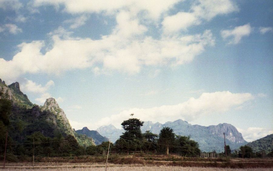 Cloud - Sky Sky Outdoors Proimage100 Proimage Film Filmphotography Filmcamera Mountain Beauty In Nature Landscape Nature Vacations No People Laos Vang Vieng Miles Away