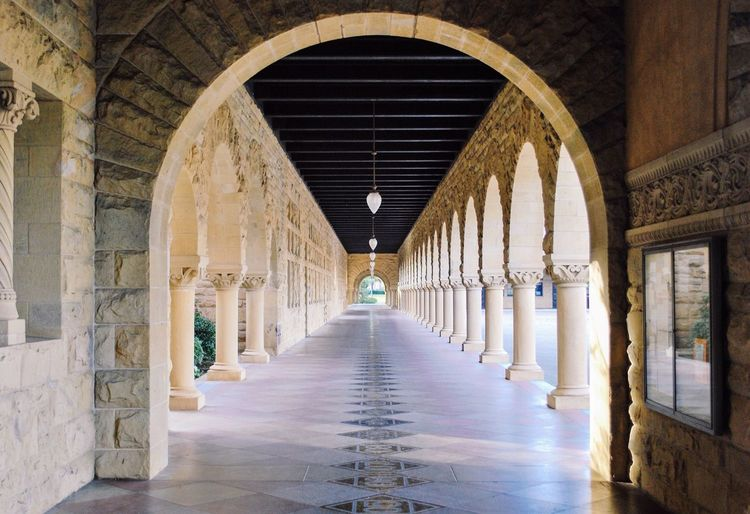 Archway of Stanford Architecture Arch The Way Forward Built Structure Corridor Indoors  Architectural Column History No People Day Stanford University University Campus Academic Stanford California West Coast America Colour Your Horizn