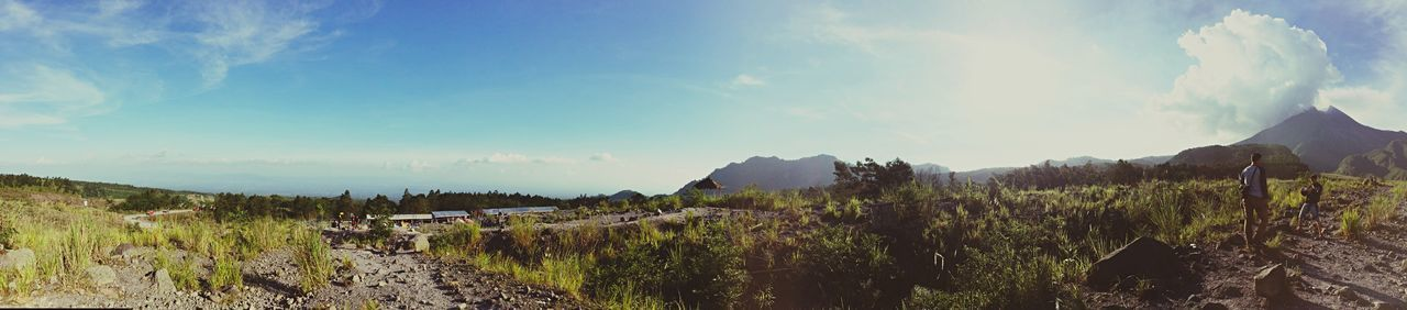 panorama... IPhoneography Accoustick Nature Mountain Merapi Clouds And Sky Pemandangan Alam Beauty In Nature