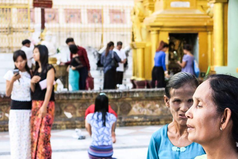 Yangon, Myanmar Pagoda Faces Faces Of EyeEm