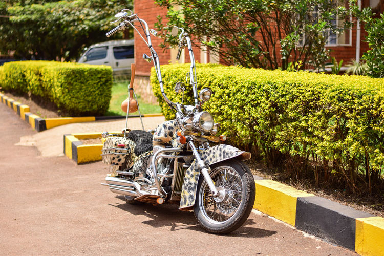 African Chopper 2 African Architecture Chopper City Day Hedge Land Vehicle Mode Of Transportation Motion Motor Vehicle Motorcycle Nature No People Outdoors Plant Road Shadow Sidewalk Street Sunlight Transportation Travel Tree