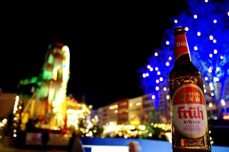 Köln Kölsch Beer Bier German Beer 🍻 Lights Heumarkt  Weihnachtsmarkt Bottle Eyem Best Shots