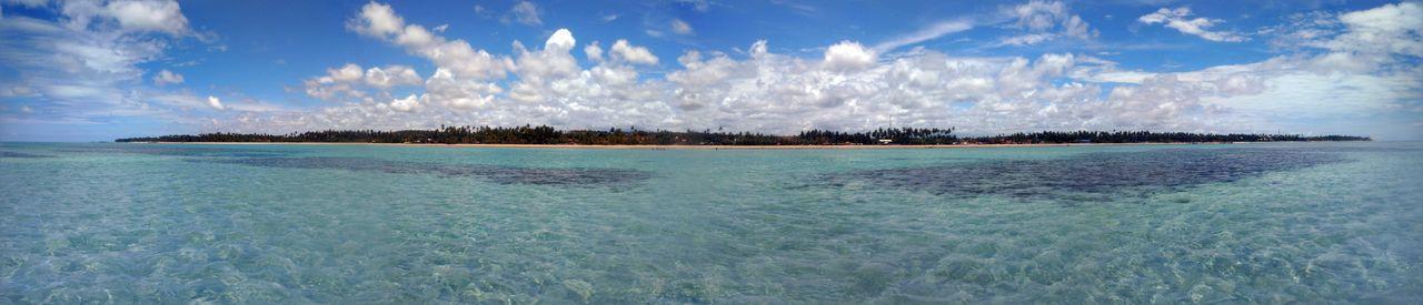 Paraíso na Terra! Beauty In Nature Nature Panoramic Blue Sky Water Vacations Horizon Over Water Day Cloud - Sky Sea Maragogi - AL Brazil Scenics Maragogi Be. Ready. EyeEmNewHere