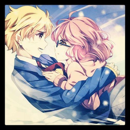 Kyoukai No Kanata Anime Fantasy Romantic Scene