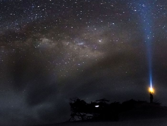 Lost In The Landscape Astronomy Beauty In Nature Constellation Galaxy Illuminated Low Angle View Nature Night No People Outdoors Scenics Sky Space Space Exploration Star - Space Star Field Starry Tranquil Scene Tranquility Tree Perspectives On Nature