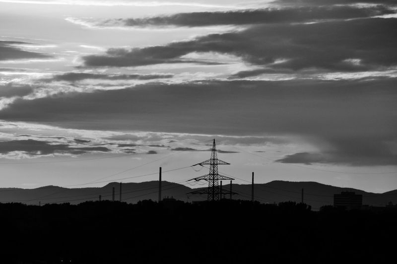 Silhouette Eyeem Street Official Photos Club📷 EyeEm Deutschland EyeEmBestPics Global Photographer-Collection EyeEm Team Tadaa Community Eyeemblack & White Landscapes With WhiteWall EyeEmBlackAndWhite Blackandwhite Photography Blackandwhitephotography Eyeemblack&white Electricity Pylon Fuel And Power Generation Power Line  Mountain Cloud - Sky Cloudscape Nature Photography Eyemphotography EyeEm Masterclass EyeEm Best Shots - Nature Blackandwhite Naturelovers
