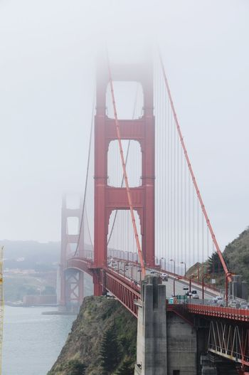Foggy Day Foggy Landscape Foggy Weather San Francisco California Golden Gate Bridge GoldenGateBridge Bridge View USAtrip Suspension Bridge Travel Destinations Fog City Architecture No People Cityscape Bridge - Man Made Structure
